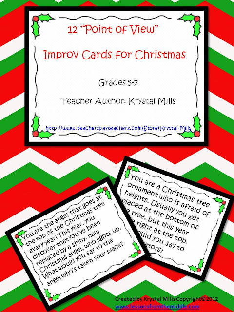 Christmas Improv Point of View Cards Freebie