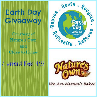 Close to Home: Earth Day Giveaway--Nature's Own Bread Coupons
