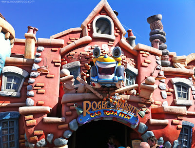 Roger Rabbit's Car Toon Spin Disneyland Toontown Rabbit dark