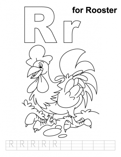 letter rr printable coloring pages