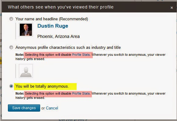 How To Disable Who I View In LinkedIn