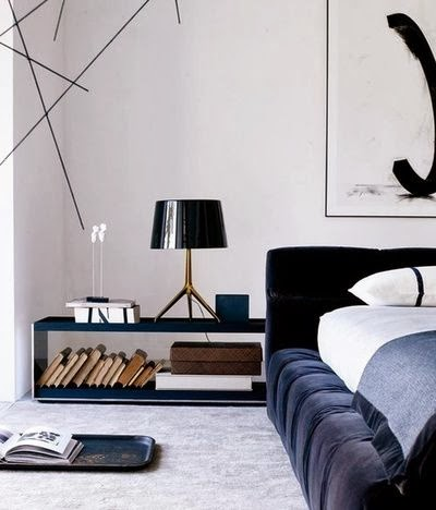 black and white bedroom, black velvet bed!!