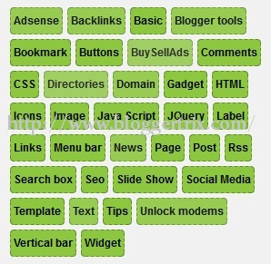 Css3+Green+Cloud+Lable+Widget+For+Blogger