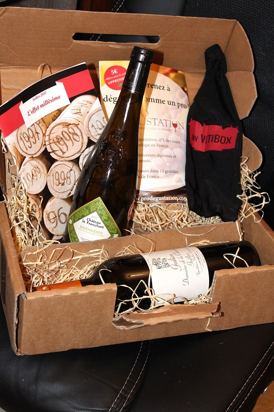 box de vin a offrir