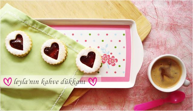 linzer kurabiye marmelatlı kurabiye aşk kurabiyesi