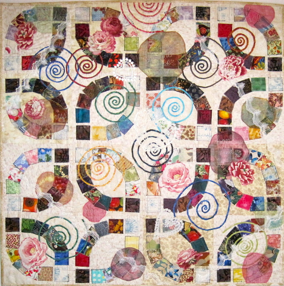 double wedding rings part 4 collaged wedding ring quilt pattern