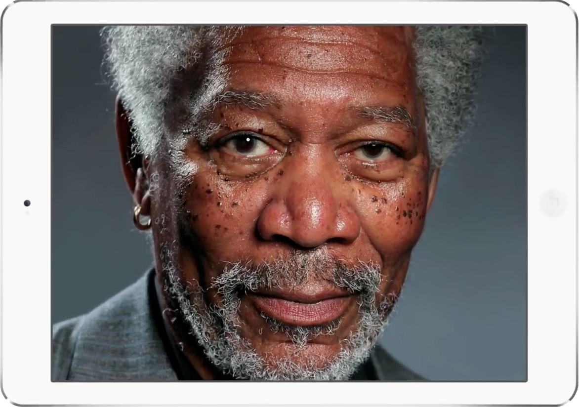 Kyle Lambert, Morgan Freeman, Procreate, iPad