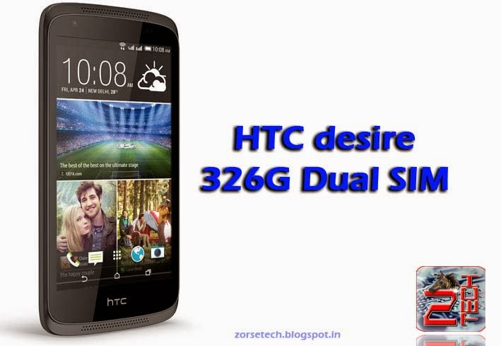 HTC desire 326G dual sim with 4.5 inch display, 1 GB RAM, 8 mp camera, 8 GB internal memory etc..