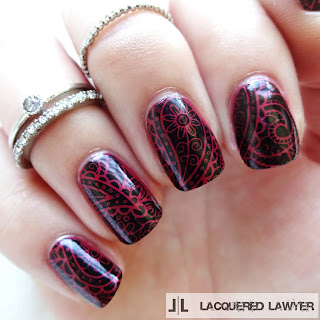Paisley Stamped Nails