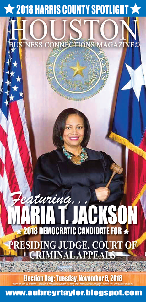 JUDGE MARIA T. JACKSON AND OTHER DEMOCRATS WHO VALUE THE SUPPORT OF EVERY HARRIS COUNTY VOTER!
