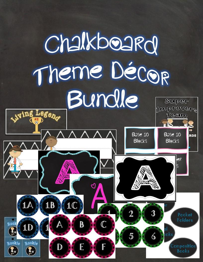 Classroom Chalkboard Decor : The best of teacher entrepreneurs iii chalkboard themed
