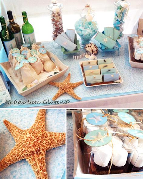 Sa de sem gl ten decora o festa na praia for Seaside wedding theme ideas
