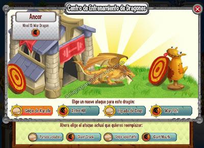 imagen de los ataques del dragon guerra