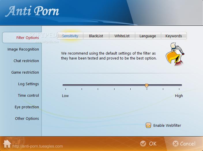 Tampilan software Anti-Porn 20.2.11.2