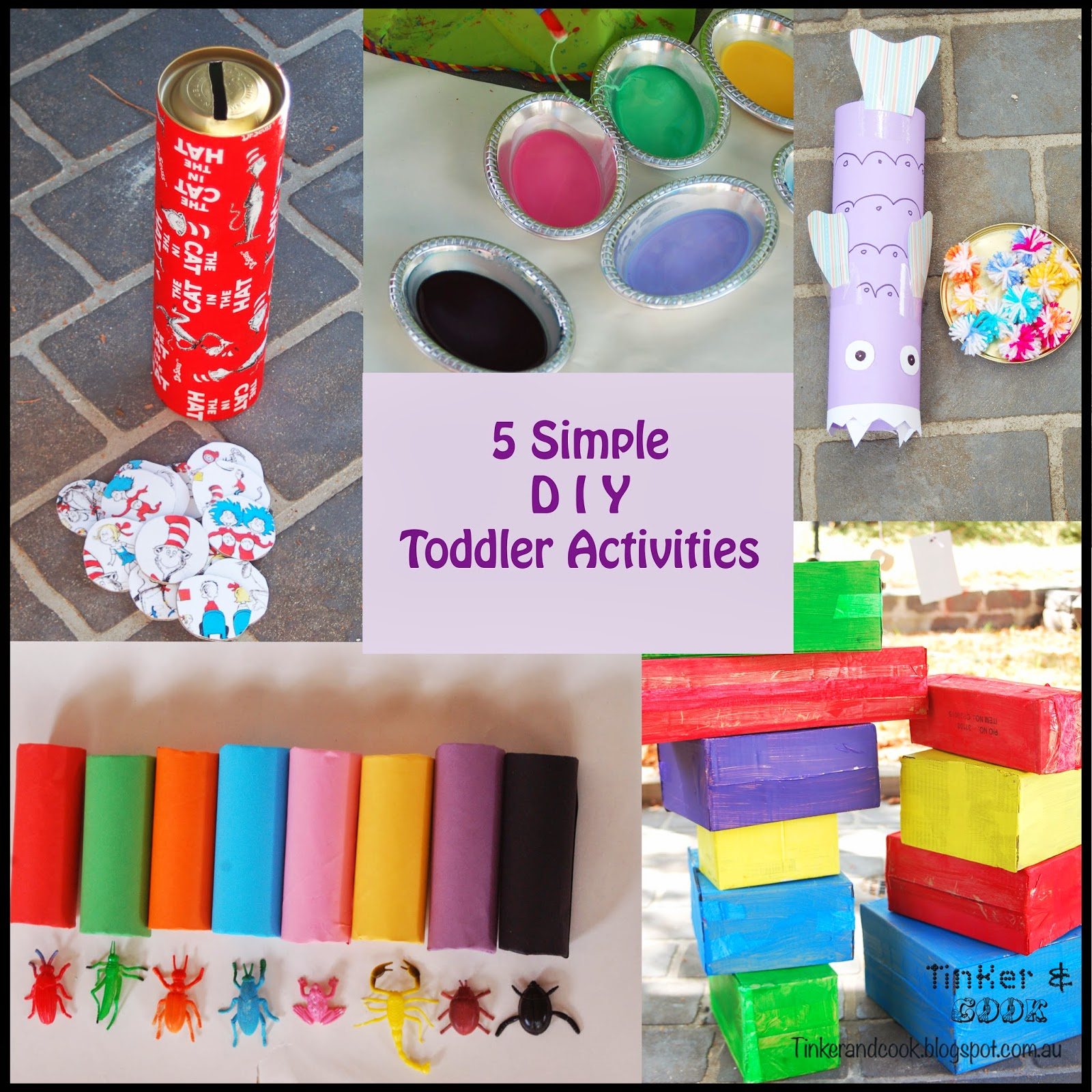 Tinker and Cook: 5 Simple DIY Activities for Toddlers