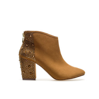 Zara brown high heel studded