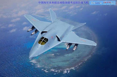 Konsep pesawat tempur pembom siluman baru China