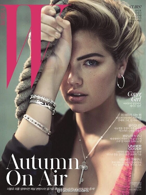 Actress, Model @ Kate Upton - W Korea, October 2015