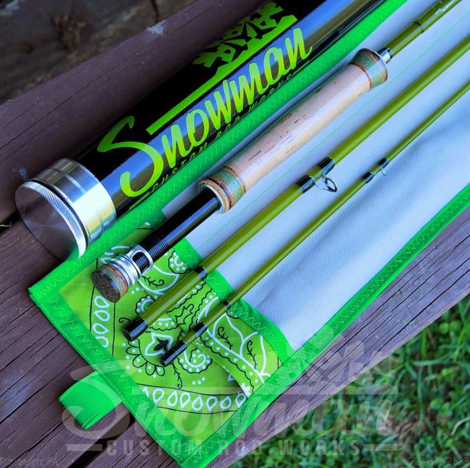 The fiberglass manifesto snowman custom rod works colors for Halo fishing rods