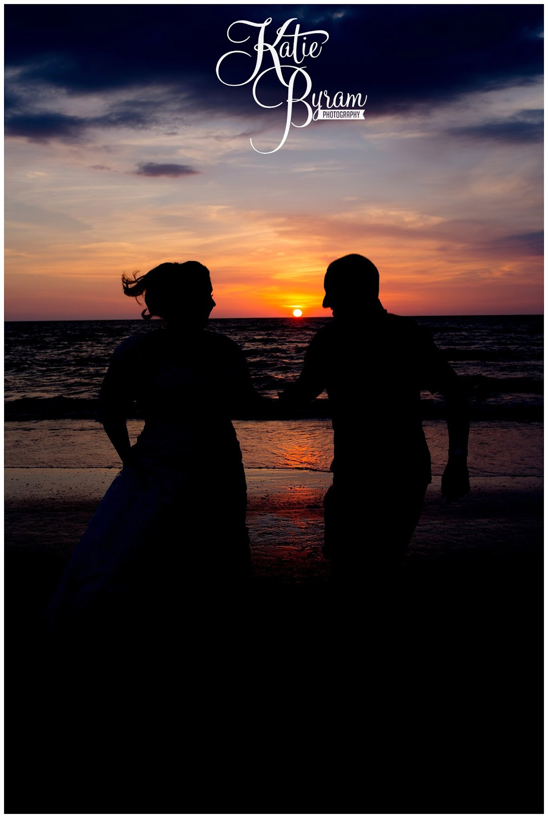 bride and groom sunset, nautical wedding, beach wedding theme, destination wedding, clearwater beach wedding, hilton clearwater beach wedding, katie byram photography, florida wedding