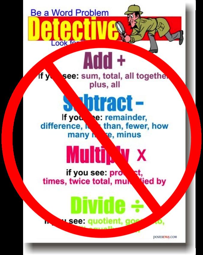 Keywords to solve math word problems