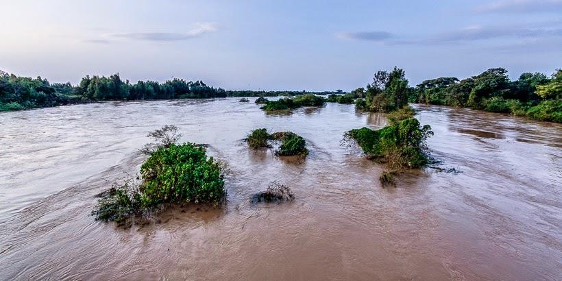 Kék-Nílus. Bahir Dar, Etiópia.