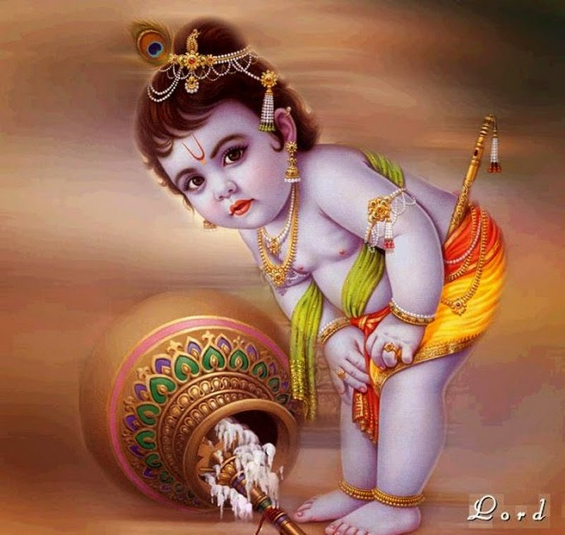 God Krishna Cute Child Wallpapers