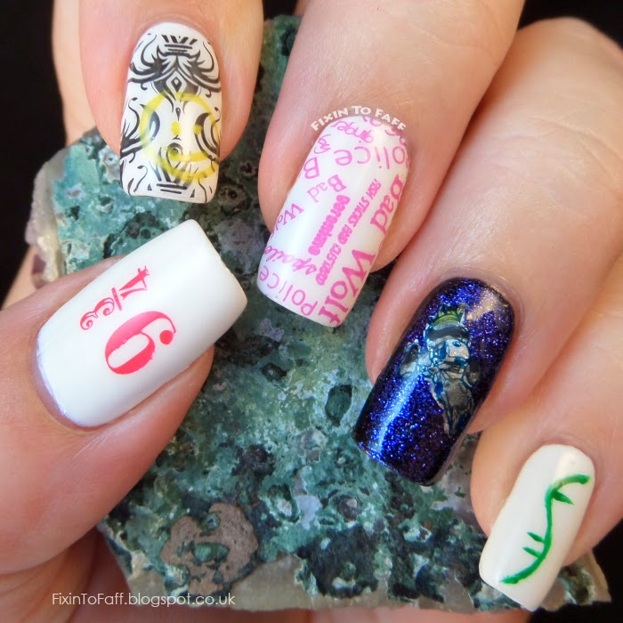 Embrace Your Geekness Fandom nail art