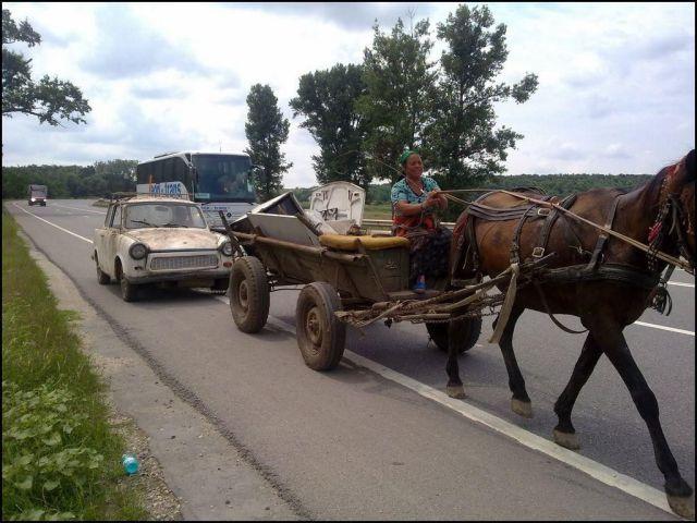 Andando a cavalo na avenida