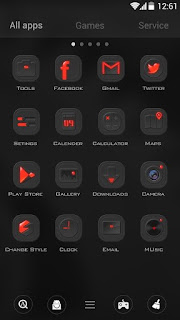Screenshots of the Dark Energy for Android tablet, phone.