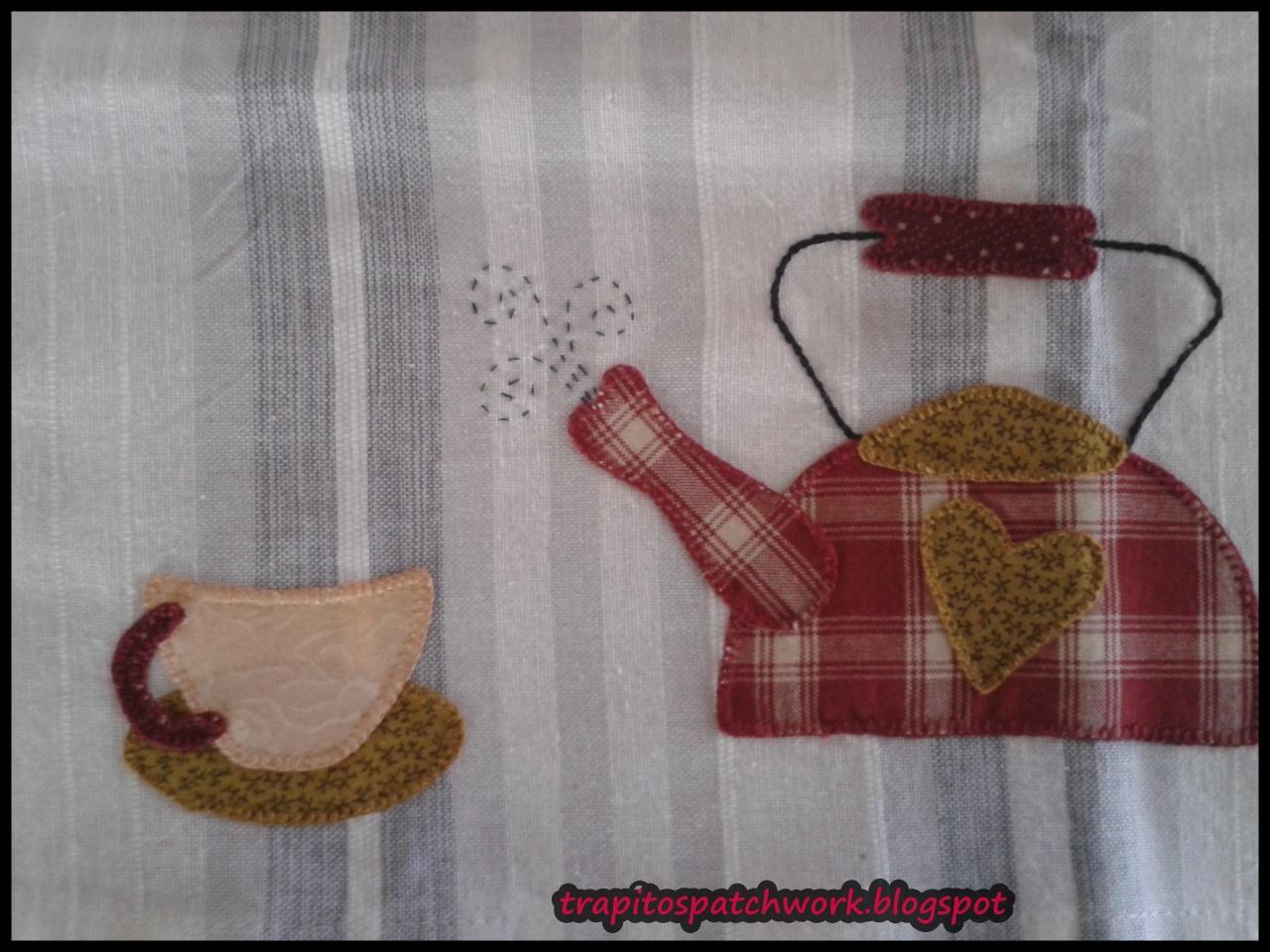 trapitos patchwork adornando pa os de cocina