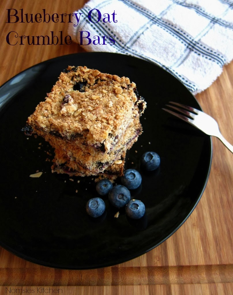 Blueberry Oat Crumble Bars Recipe from Nomsies Kitchen