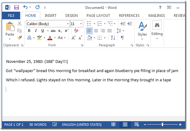 Copy and Paste The Extracted  Text to  Microsoft Word