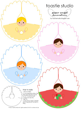 Christmas tutorial advent paper angel printable for Angel tree decoration template