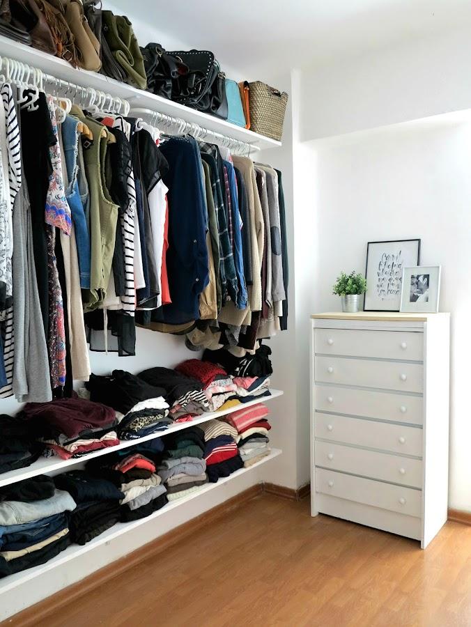 Peque o vestidor low cost - Ideas para hacer un tocador ...