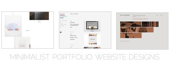 minimalist Portfolio Websites Examples