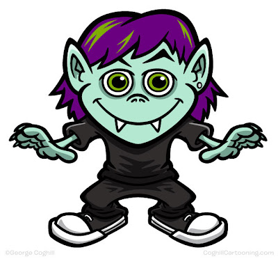 Vampire Kid Cartoon Vector Art Coghill Cartoons