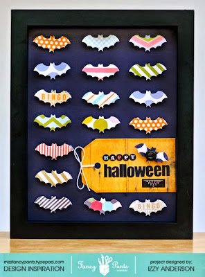 write snap scrap going batty repurposed halloween frame