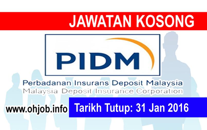 Jawatan Kerja Kosong Perbadanan Insurans Deposit Malaysia (PIDM) logo www.ohjob.info januari 2016