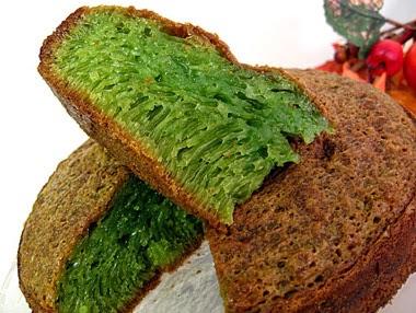 Bánh bò nướng lá dứa