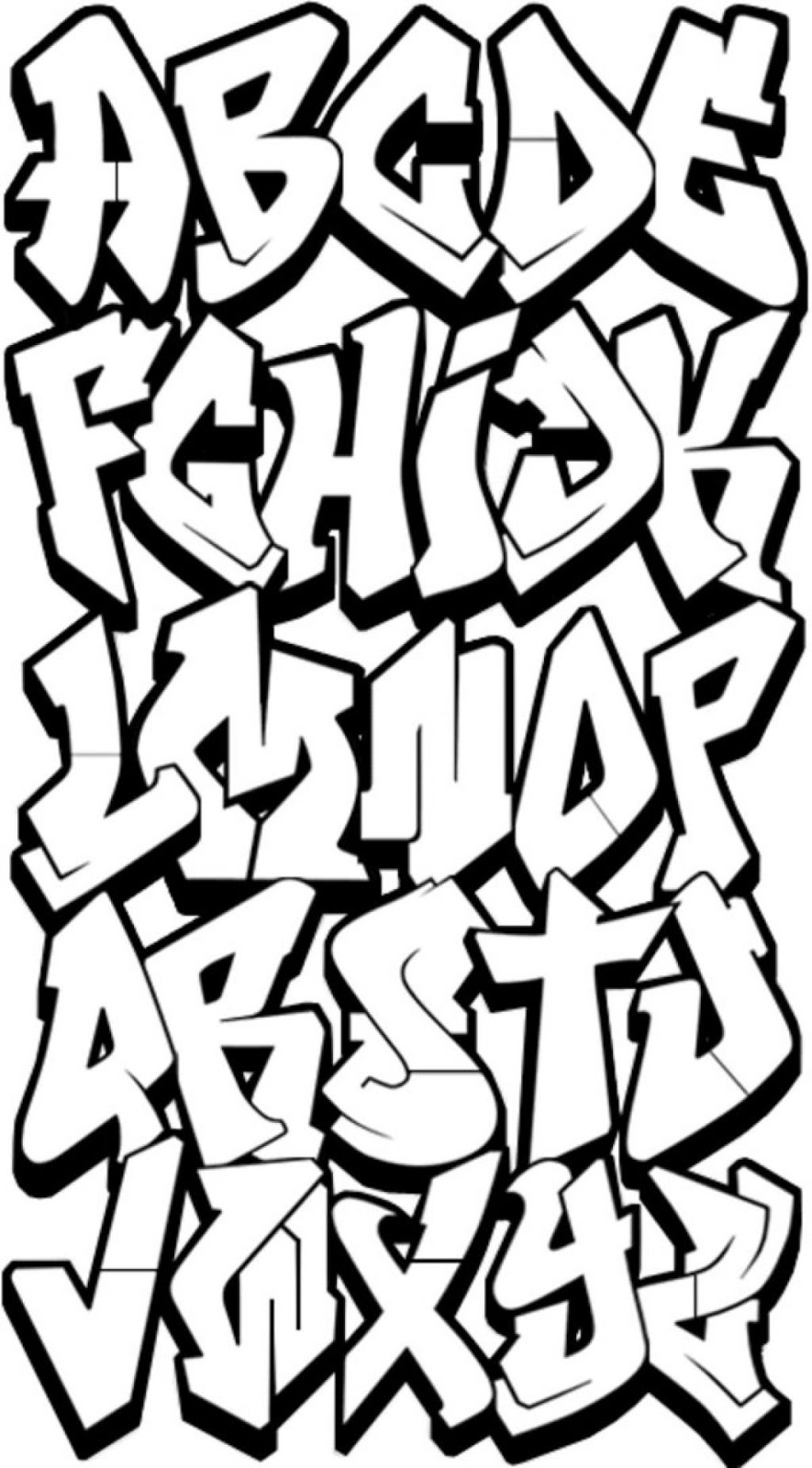 60 swanky graffiti alphabet collection