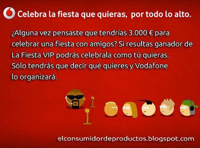 3.000 € para celebrar una fiesta con Vodafone Fiesta Vip