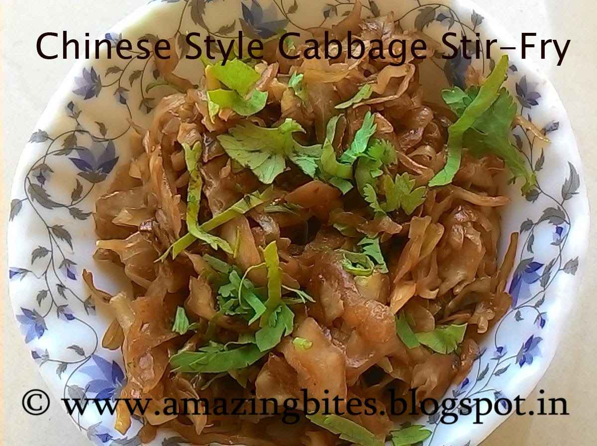 chinese style cabbage stir-fry