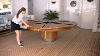 Creative width adjustable round table - New furniture inventions | Awesome inventions | Creative movable round table | Furniture Innovation and new inventions