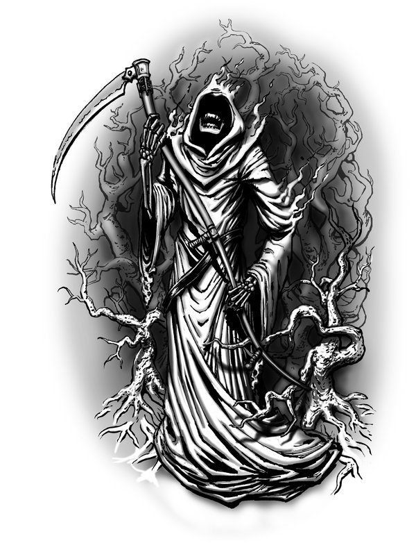 25 cool grim reaper tattoos design best tattoo pictures. Black Bedroom Furniture Sets. Home Design Ideas