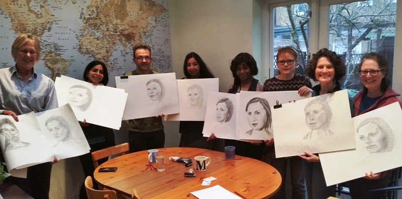 The class with their drawings