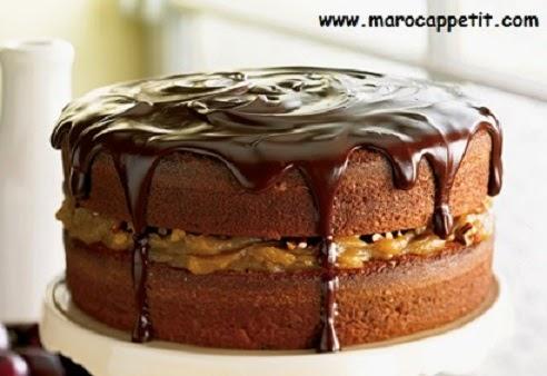 Gâteau au caramel et chocolat | Cake with caramel and chocolate