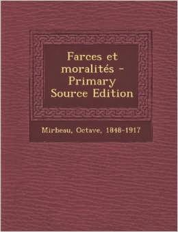 """Farces et moralités"", Nabu Press, 2013"