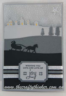 SU, Sleigh Ride Edgelits, Softy Falling, snow scene, Christmas silhouettes