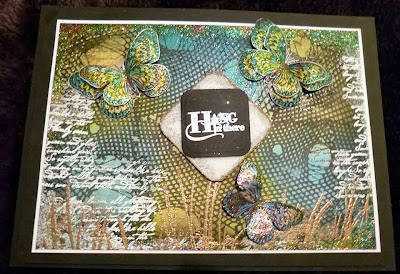 butterflies-tall grass-script stamp-ripped fishnet-visible image stamps